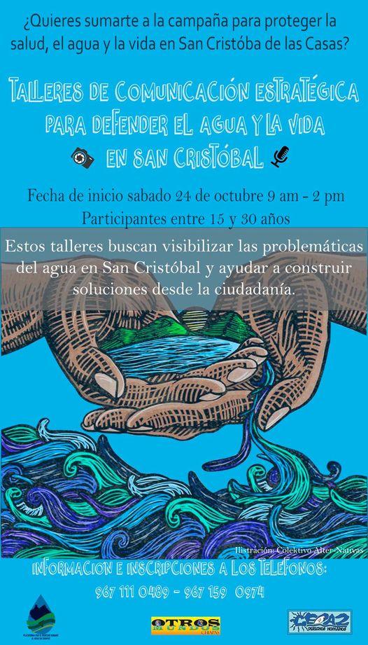 Convocatoria: Talleres de Comunicación Estratégica para Defender el Agua y la Vida en San Cristóbal