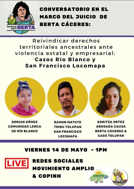 Conversatorio en el Marco del Juicio de Berta Cáceres