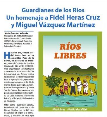 """""""En México defender los ríos cuesta la vida"""": 14 guardianes de los ríos asesinados"""